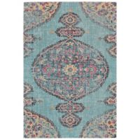 Feizy Holmani Medallion 5-Foot x 8-Foot Area Rug in Aqua