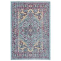 Feizy Tosca Border 5-Foot x 8-Foot Area Rug in Aqua Multi