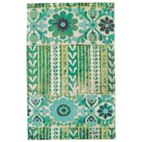 Feizy Ashlyn Floral Stripe 2-Foot x 3-Foot Accent Rug in Emerald