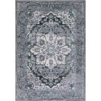 Thema Serapi 6-Foot 7-Inch x 9-Foot 3-Inch Area Rug in Teal