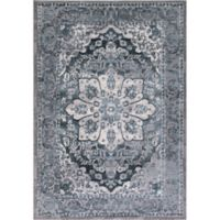 Thema Serapi 7-Foot 10-Inch x 10-Foot 6-Inch Area Rug in Teal
