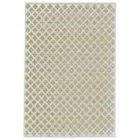 Feizy Soho-Mah Diamond Floral 2-Foot 6-Inch x 8-Foot Runner in Cream/Citrine