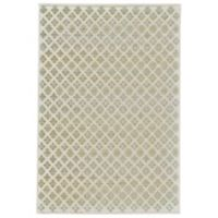 Feizy Soho-Mah Diamond Floral 5-Foot 3-Inch x 7-Foot 6-Inch Area Rug in Cream/Citrine