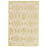 Feizy Soho-Mah Wrought Iron 2-Foot 2-Inch x 4-Foot Accent Rug in Cream/Citrine