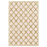 Feizy Soho-Mah Garden Trellis 5-Foot 3-Inch x 7-Foot 6-Inch Area Rug in Cream/Gold