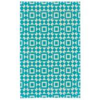 Feizy Harrison Granada Diamond 3-Foot x 5-Foot Area Rug in Turquoise