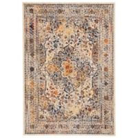 Feizy Zenith Center Medallion 5-Foot x 8-Foot Area Rug in White/Multi