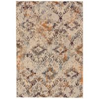 Feizy Zenith Medallion 5-Foot x 8-Foot Area Rug in White/Orange