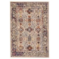 Feizy Zenith Tribal Medallion 5-Foot x 8-Foot Area Rug in White/Blue