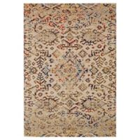 Feizy Zenith Tribal 5-Foot x 8-Foot Area Rug in White/Silver