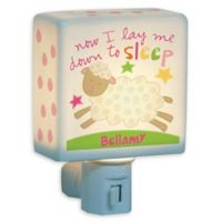 """Now I Lay Me Down To Sleep"" Sheep Nightlight in White"