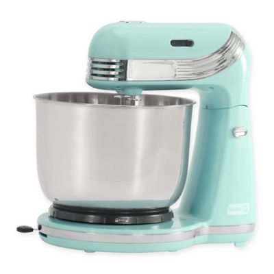 dash    everyday 2 5 qt  stand mixer in pastel blue buy blue kitchen small appliances from bed bath  u0026 beyond  rh   bedbathandbeyond com