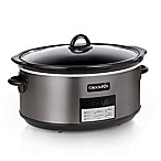Crock-Pot® 8 qt. Programmable Slow Cooker in Black Stainless