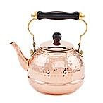 Old Dutch International® 2 qt. Hammered Copper Tea Kettle with Wood Handle