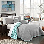 Chic Home Nalla Reversible King Quilt Set in Grey
