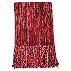 Streamers 50-Inch x 60-Inch Throw Blanket in Burgundy