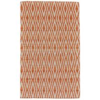 Feizy Prentiss Concentric Diamonds 4-Foot x 6-Foot Area Rug in Orange