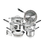T-Fal® PerformaPro Techno Release™ 14-Piece Stainless Steel Cookware Set in Silver