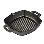 Basic Essentials® Cast Iron 10-Inch Square Grill Pan with Two Side Handles