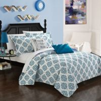 Chic Home Arvin 4-Piece Reversible Twin Quilt Set in Blue