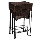 Household Essentials®  3-Piece Wicker Accent Table Set in Espresso
