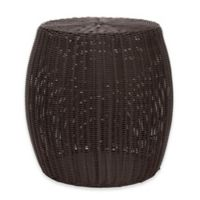 Household Essentials® 20-Inch Round All-Weather Wicker Table in Brown