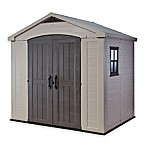 Keter Factor 8-Foot x 6-Foot Storage Shed in Beige