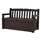 Keter Eden All-Weather Garden Bench Deck Box in Brown