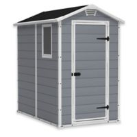 Keter Manor 4-Foot x 6-Foot Resin Storage Shed in Grey