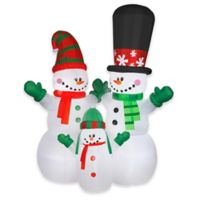National Tree Company® 12-Foot Inflatable Snowman Family