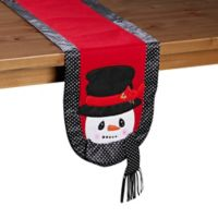 Precious Moments Snowman Table Runner