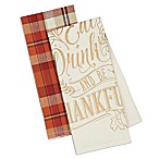 Design Imports 2-Piece Be Thankful Kitchen Towel Set