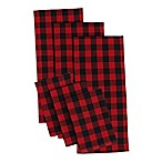 Design Imports 6-Piece Logger Checks Heavyweight Kitchen Towel and Dish Cloth Set