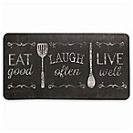 "David Burke Bloomfield ""Eat Laugh Live"" Memory Foam 20-Inch x 39-Inch Kitchen Mat"