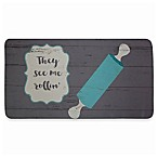 "David Burke Bloomfield ""They See Me Rollin'"" Memory Foam 20-Inch x 39-Inch Kitchen Mat"