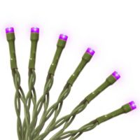 National Tree Company 15-Bulb LED String Light in Purple