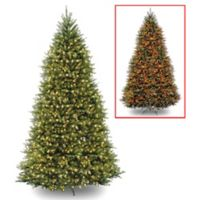 National Tree Company 12-Foot Pre-Lit LED Dunhill Fir Artificial Christmas Tree
