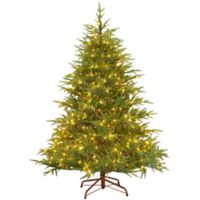 National Tree Company 6-1/2-Foot Pre-Lit Feel Real Frasier Grande Fir Artificial Christmas Tree