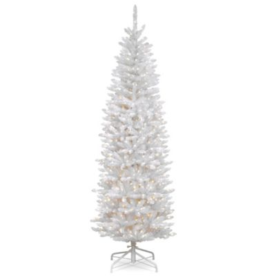 national tree company 7 12 foot pre lit kingswood white fir - 7 1 2 Foot Christmas Tree