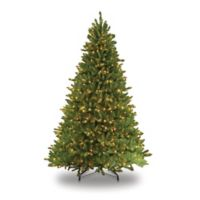 Puleo International 7.5-Foot Fraser Fir Pre-Lit Artificial Christmas Tree with Clear Lights