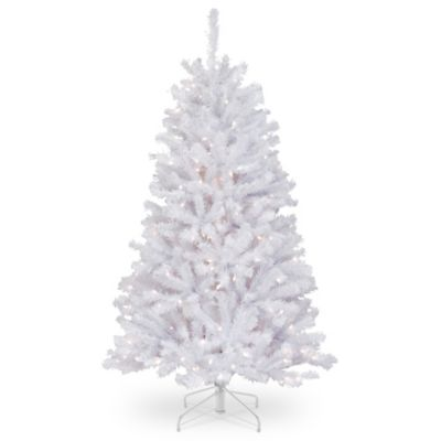 national tree company 4 12 foot pre lit north valley white - White Artificial Christmas Trees