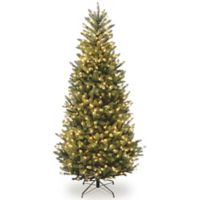 National Tree Company 10-Foot Pre-Lit Feel Real Fraser Slim Fir Artificial Christmas Tree