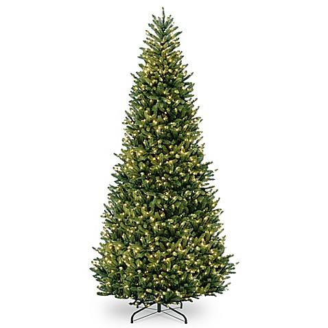 National Tree Company Pre-Lit Feel Real Fraser Slim Fir ...