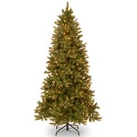 National Tree Company 6.5-Foot Downswept Douglas Slim Fir Christmas Tree with Clear Lights