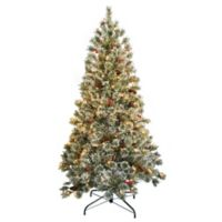 National Tree Company 6 Foot Pre-Lit Crystal Cashmere Artificial Christmas Tree