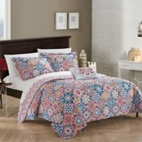 Chic Home Eindhoven Reversible Twin Quilt Set in Pink