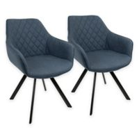 LumiSource Outlaw Accent Chairs in Blue/Black (Set of 2)