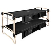 Disc-O-Bed™ Extra-Large Disco-O-Beds with Side Organizer in Black