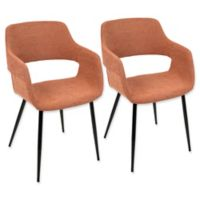LumiSource Margarite Accent Chairs in Black/Orange (Set of 2)
