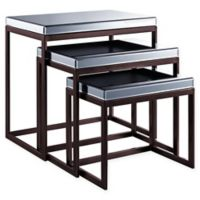 Pulaski Smoked Mirror Nesting Tables (Set of 3)